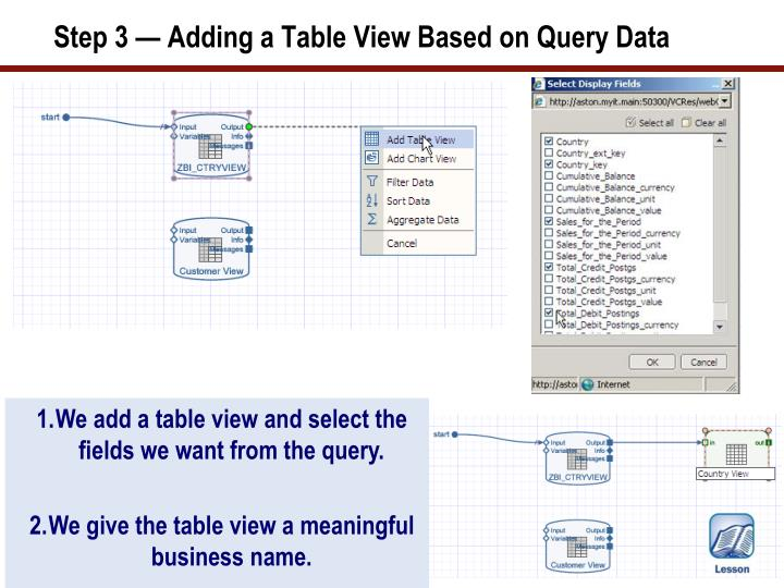 Step 3 — Adding a Table View Based on Query Data