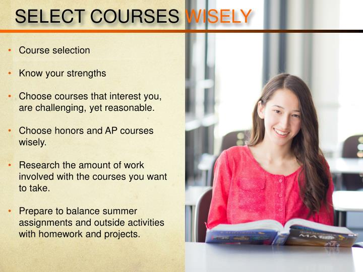 SELECT COURSES