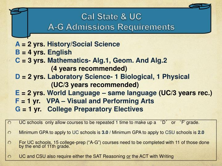 UC schools  only allow courses to be repeated