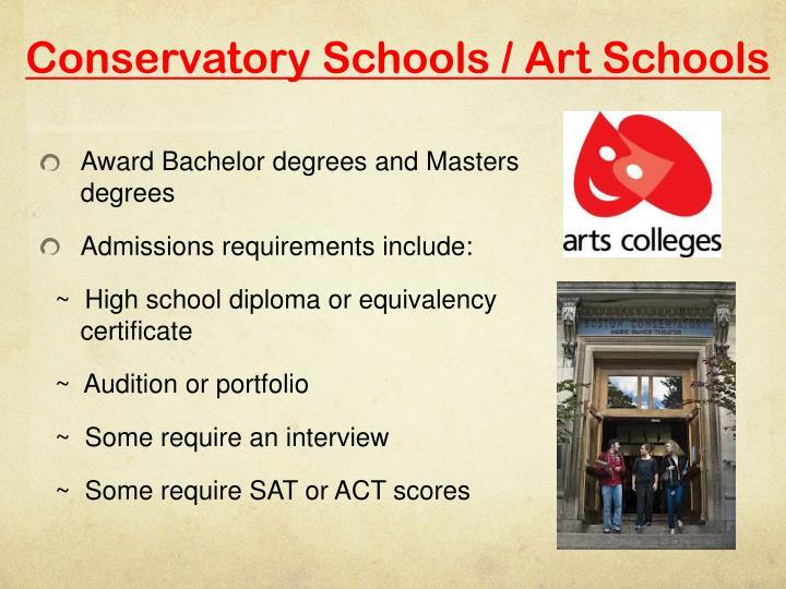Conservatory Schools / Art Schools
