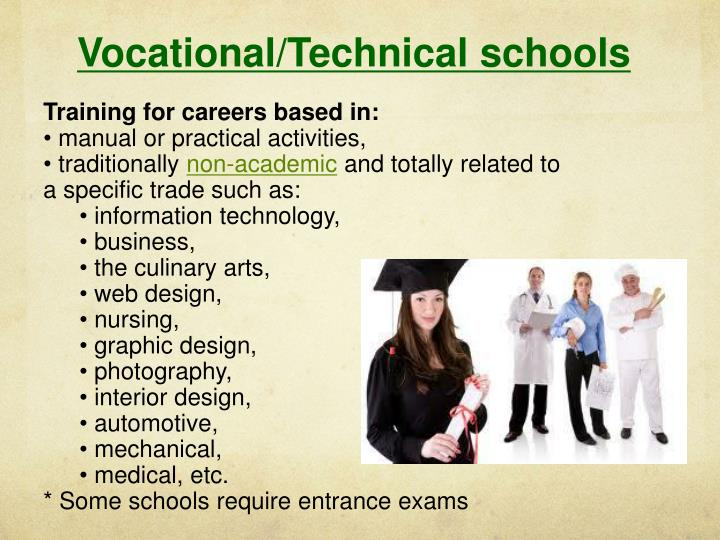 Vocational/Technical schools