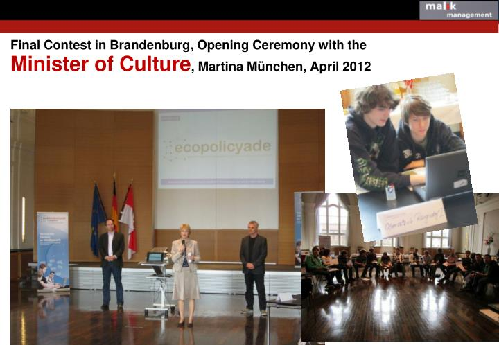 Final Contest in Brandenburg, Opening Ceremony with the