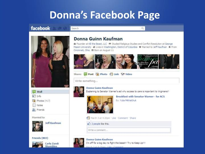 Donna's Facebook Page
