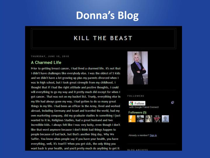 Donna's Blog