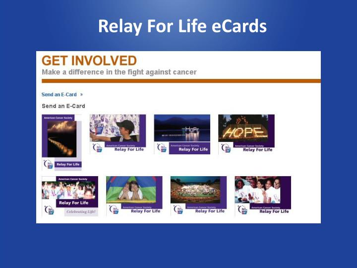 Relay For Life eCards