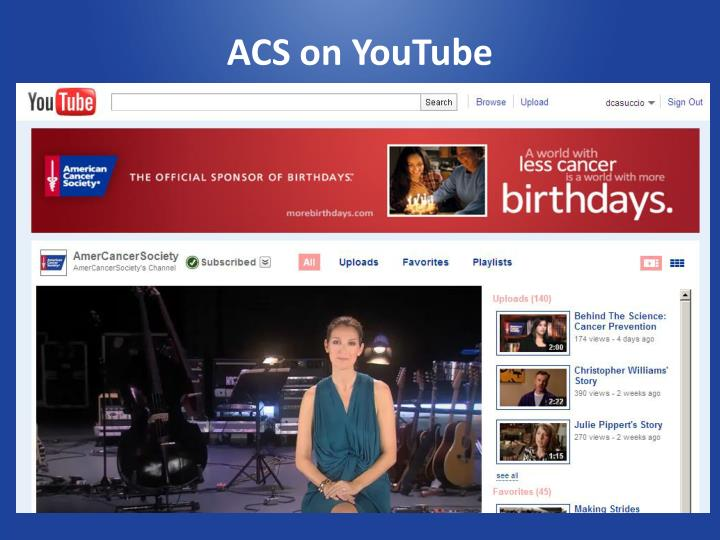 ACS on YouTube