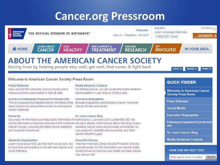 Cancer.org Pressroom