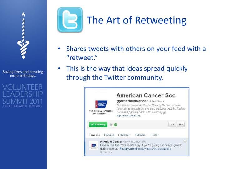 The Art of Retweeting