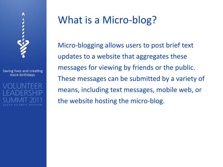 What is a Micro-blog?