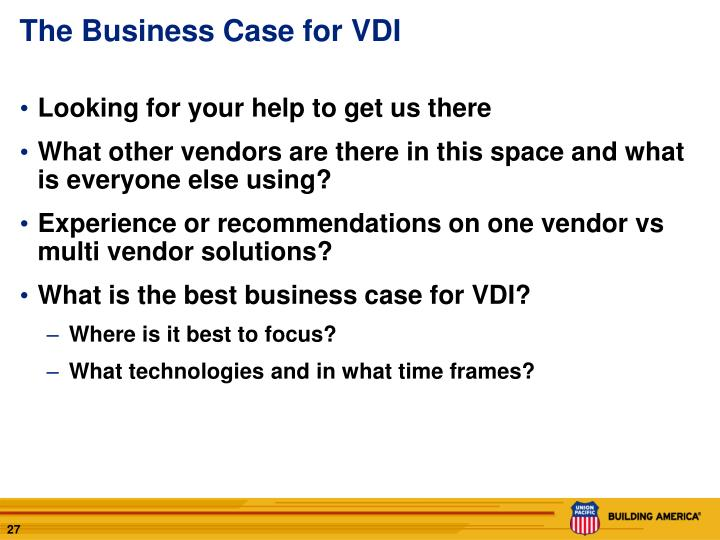 The Business Case for VDI