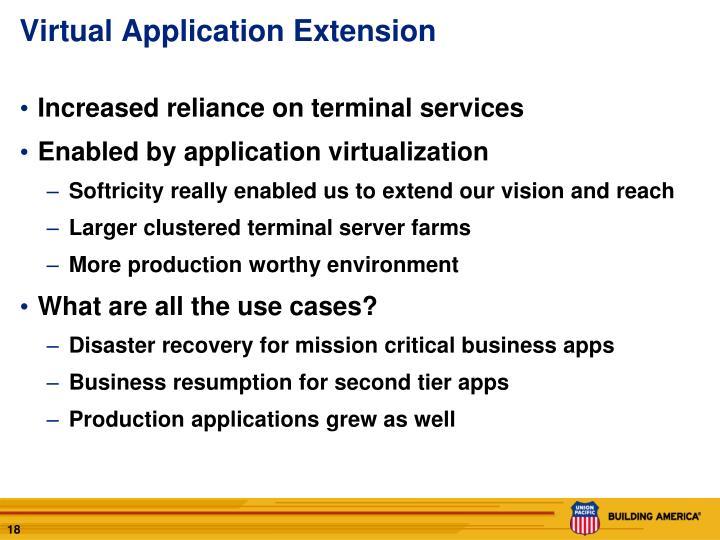 Virtual Application Extension