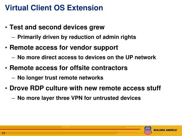 Virtual Client OS Extension