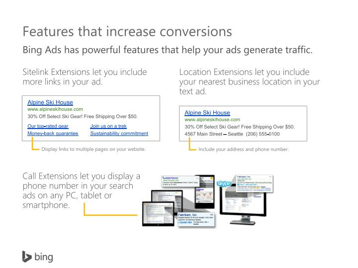 Features that increase conversions