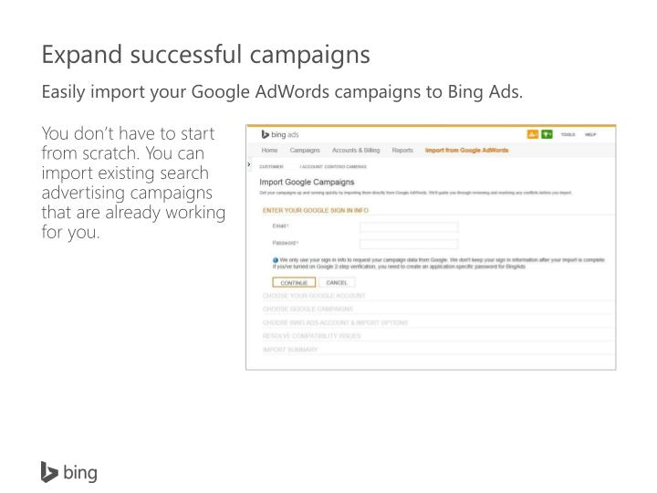 Easily import your Google