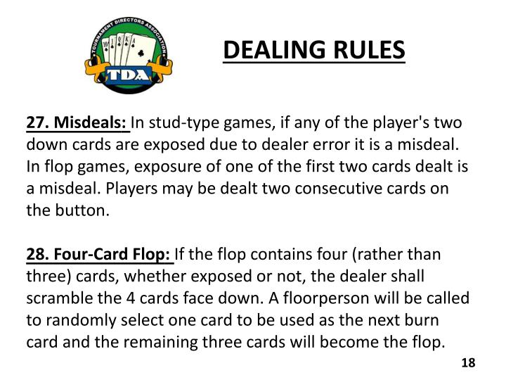 DEALING RULES
