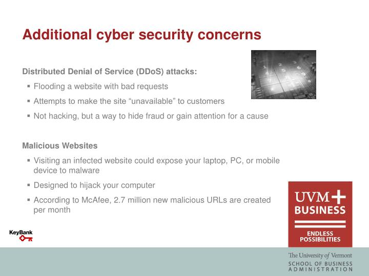 Additional cyber security concerns