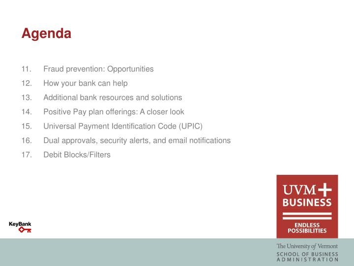 11.Fraud prevention: Opportunities