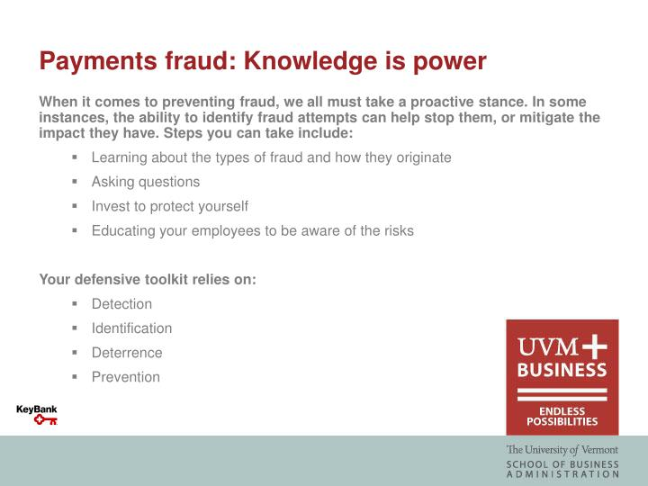 Payments fraud: Knowledge is power