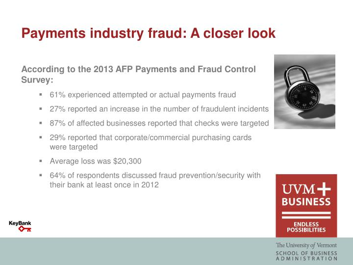 Payments industry fraud: A closer look