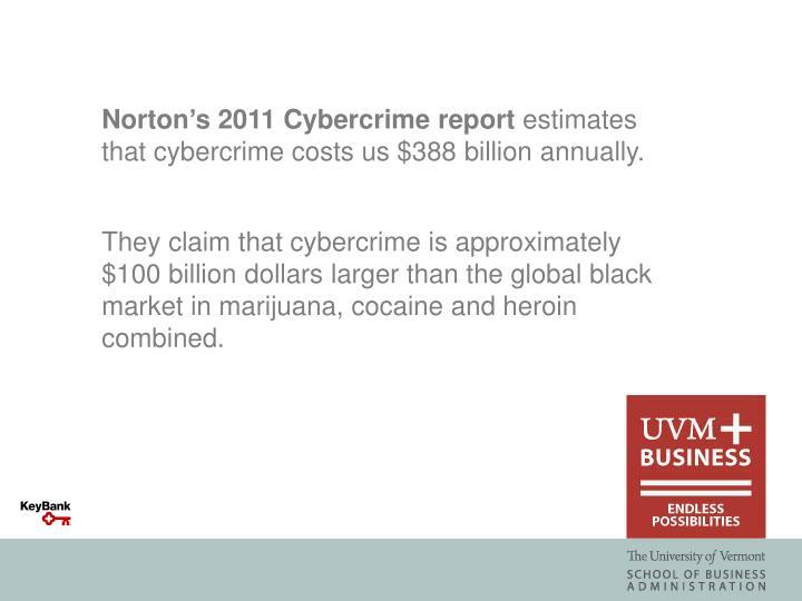 Norton's 2011 Cybercrime report