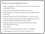 mitochondrial replacement