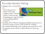 pre natal genetic testing