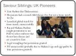 saviour siblings uk pioneers