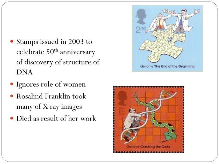 Stamps issued in 2003 to celebrate 50