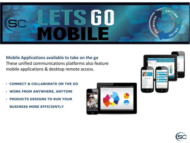 Mobile Applications available to take on the go