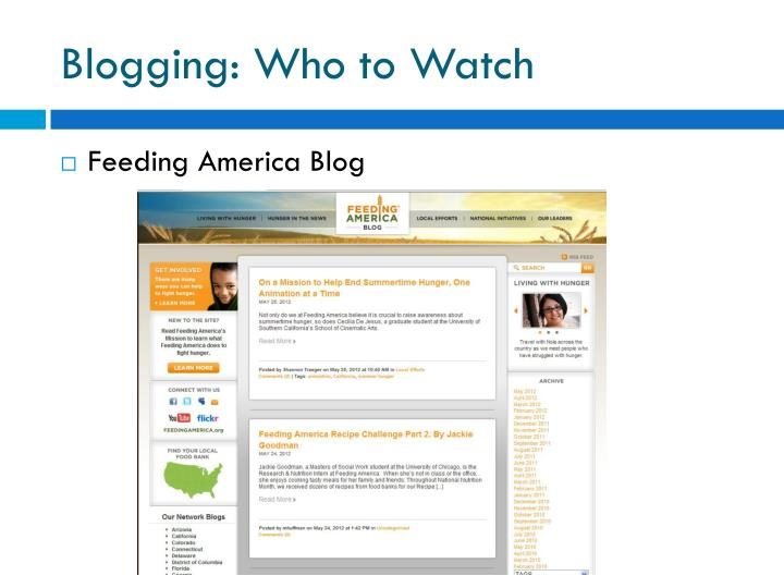 Blogging: Who to Watch