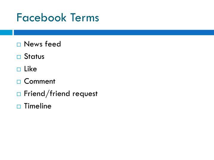 Facebook Terms