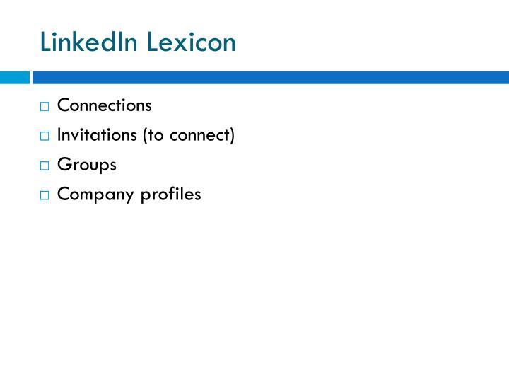 LinkedIn Lexicon
