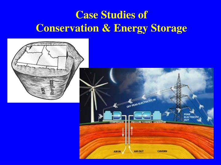 Case studies of conservation energy storage