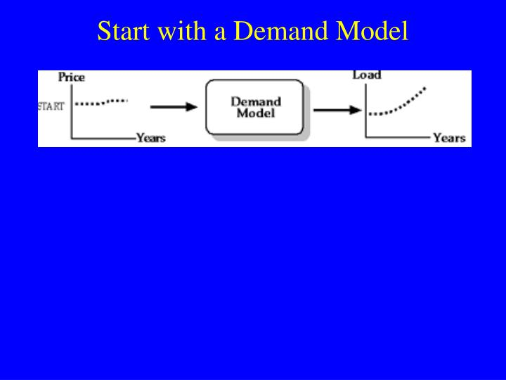 Start with a Demand Model