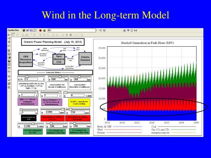Wind in the Long-term Model