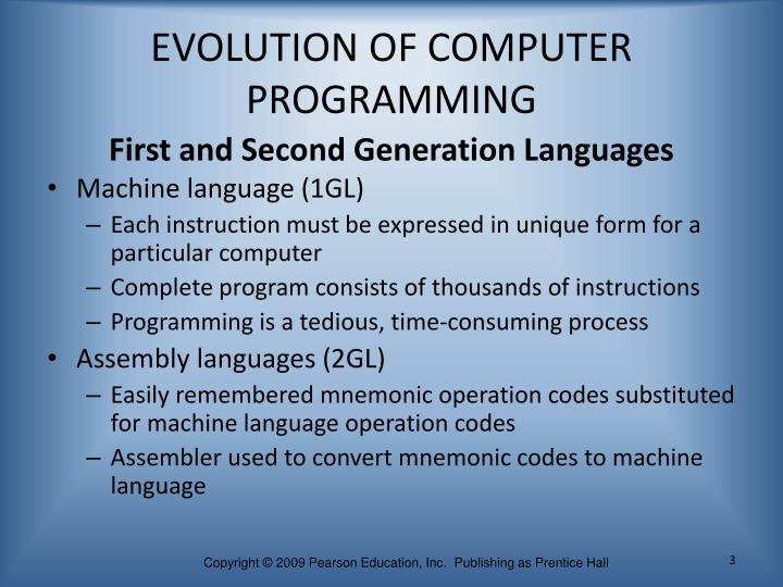 Evolution of computer programming