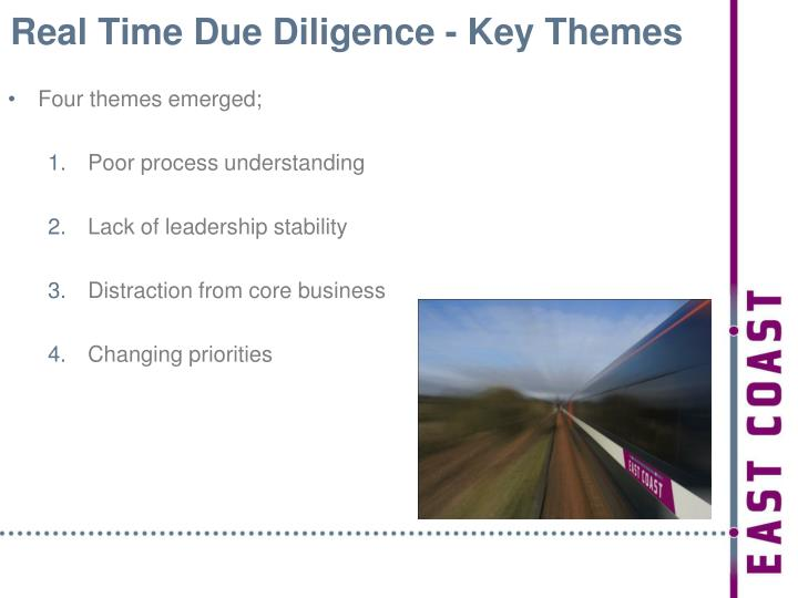 Real Time Due Diligence - Key Themes