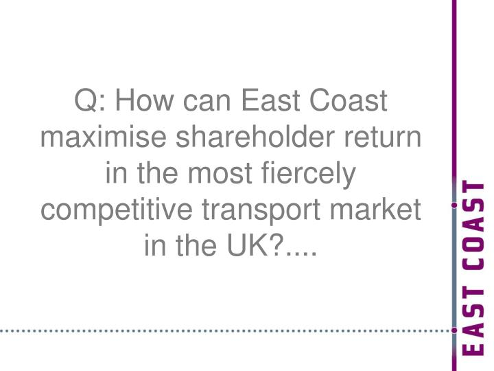 Q: How can East Coast