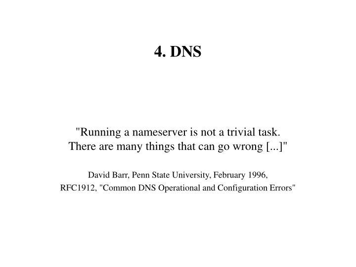 4. DNS