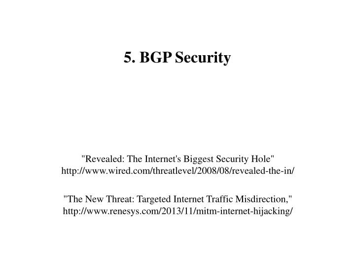 5. BGP Security