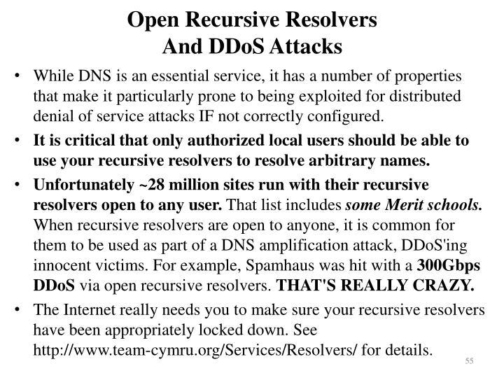 Open Recursive Resolvers