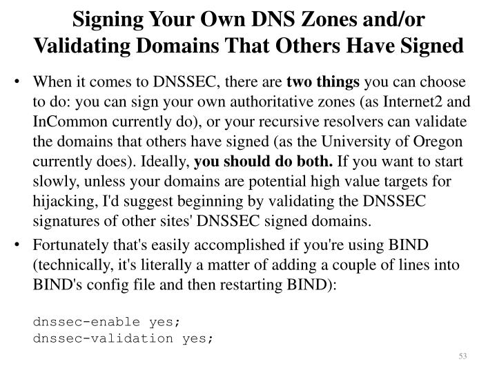 Signing Your Own DNS Zones