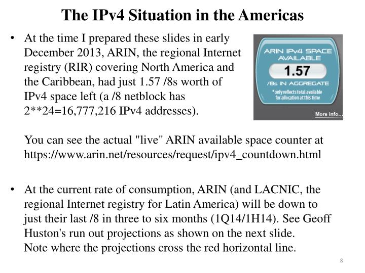 The IPv4 Situation in the Americas