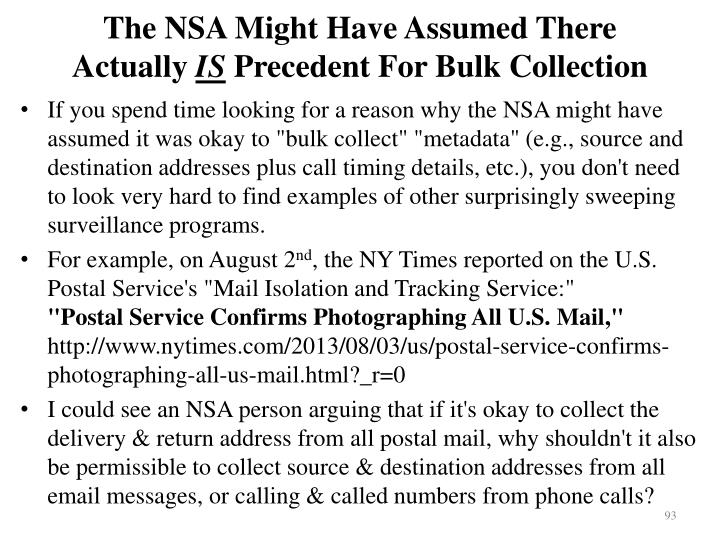 The NSA Might Have Assumed There