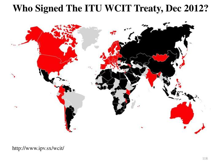 Who Signed The ITU WCIT Treaty, Dec 2012?