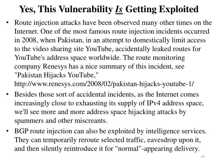 Yes, This Vulnerability