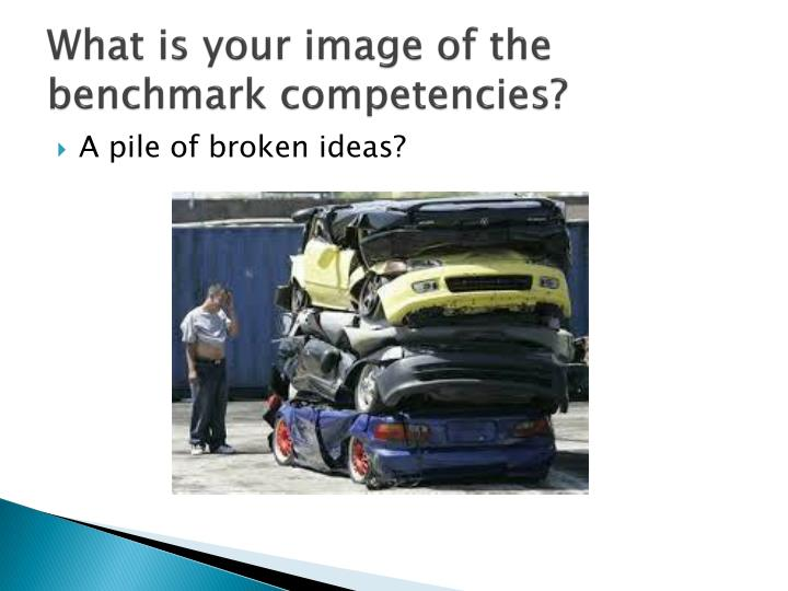 What is your image of the benchmark competencies?