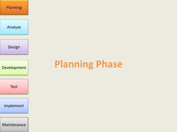Planning phase