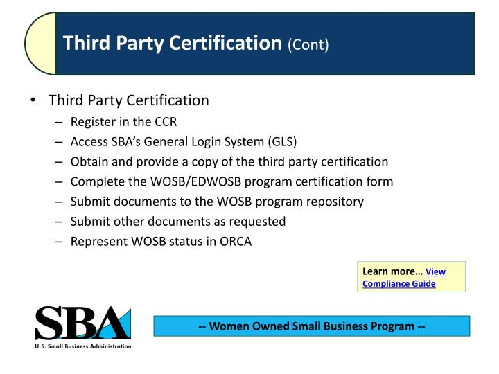 Third Party Certification