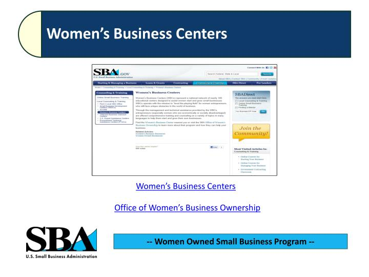 Womens Business Centers